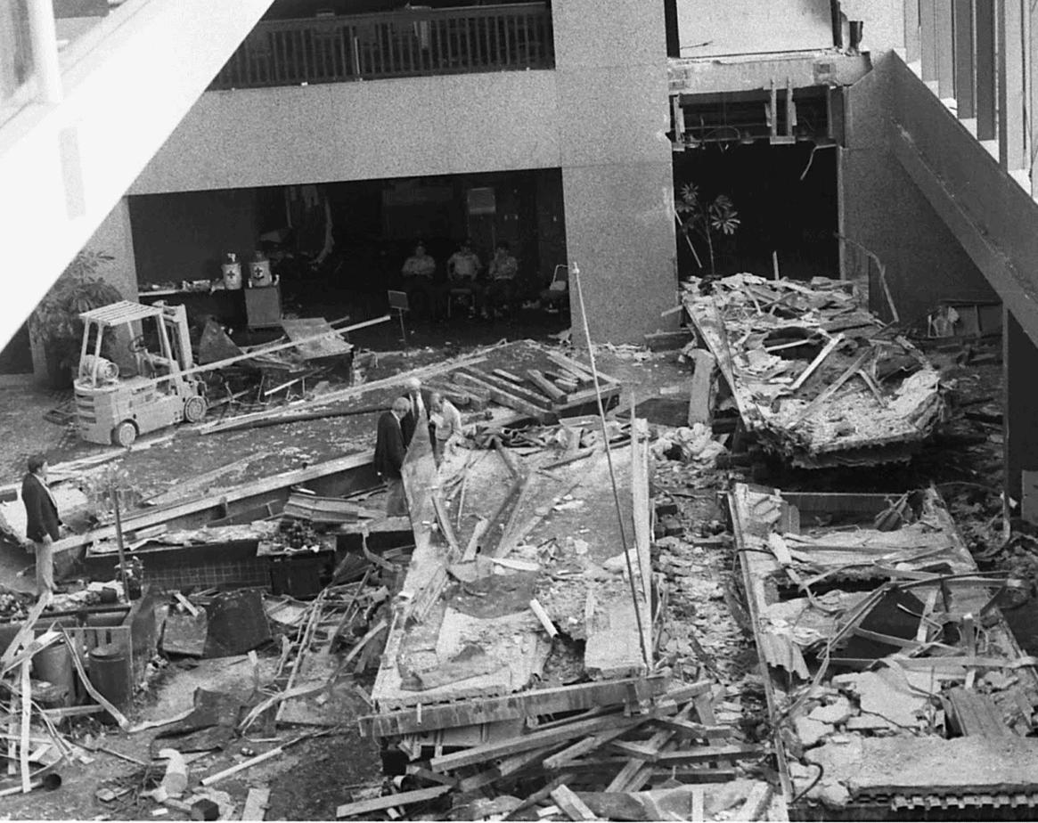 Hyatt Walkway collapse photo